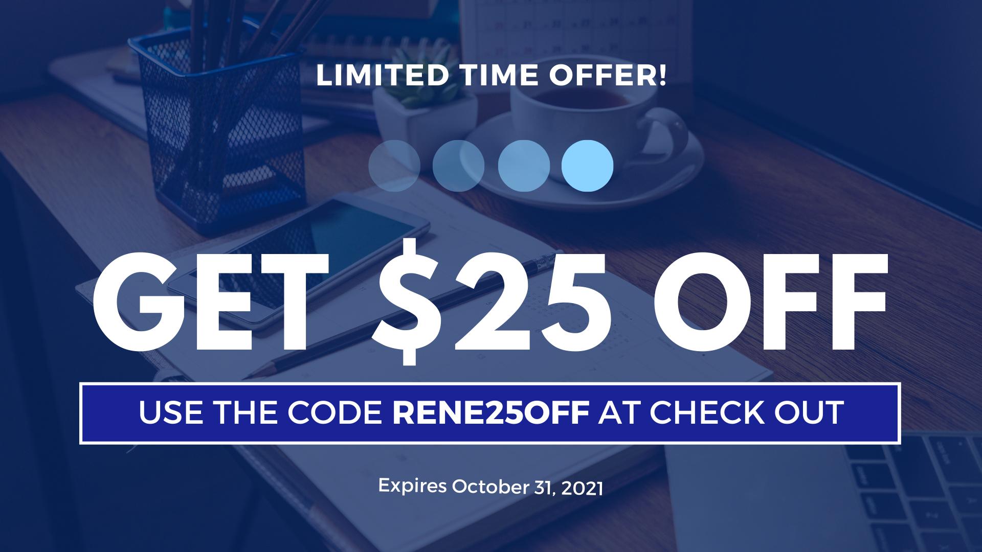 discount code rene25off